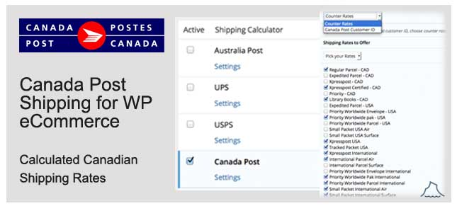 Canada Post Shipping for WordPress eCommerce